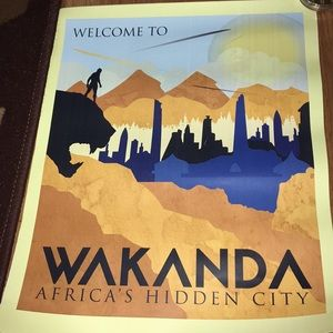 Marvel Black Panther Wakanda Travel Poster